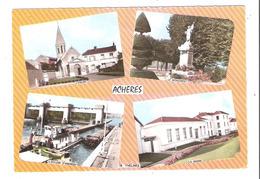Acheres (78 - Yvelines) Multi Vues Dont écluse D'Andresy - Péniche - Eglise - Acheres