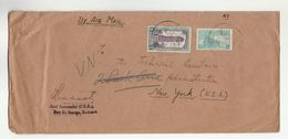1950s INDIA COVER CDB PORT ST GEORGE To  'TECHNICAL ASSISTANCE ADMIN' NY REDIRECTED To UN United Nations Stamps - Covers & Documents