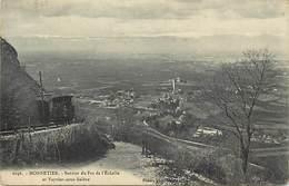 - Dpts Div.-ref-AC584- Haute Savoie - Monnetier - Sentier Pas De L Echelle Et Veyrier Sous Saleve - Train - Trains - - Autres Communes