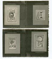 !!! PRIX FIXE : LOT DE 2 PHOTO PROJETS POUR L'EMISSION PALMIERS - 1906-08 Palmiers – Faidherbe – Ballay