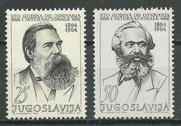 Yougoslavie YT N°988/989 Première Internationale Socialiste Neuf ** - 1945-1992 República Federal Socialista De Yugoslavia