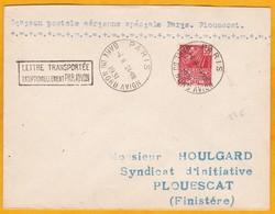 1931 - Enveloppe Par Avion De Paris Gare Du Nord Avion Vers Plouescat - Vol Spécial - Affrt 0f50 - Cad  Arrivée - Poste Aérienne