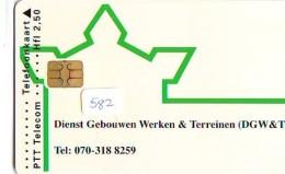 NEDERLAND CHIP TELEFOONKAART CRD 582 * DGW&T * Telecarte A PUCE PAYS-BAS ONGEBRUIKT MINT - Privé