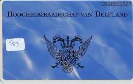 RRR * NEDERLAND CHIP TELEFOONKAART CRD 583 * HOOGHEEMRAADSCHAP DELFLAND * Telecarte A PUCE PAYS-BAS ONGEBRUIKT MINT - Nederland