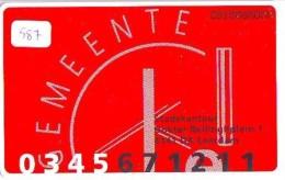 NEDERLAND CHIP TELEFOONKAART CRD 587 * GEMEENTE LEERDAM * Telecarte A PUCE PAYS-BAS ONGEBRUIKT MINT - Nederland