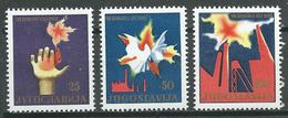 Yougoslavie YT N°998/1000 Congrès Du Parti Neuf ** - Ungebraucht
