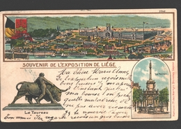Liège - Souvenir De L'Exposition De Liège - Dos Simple - Liege
