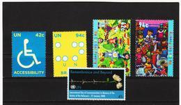 LVT183 UNO WIEN 2008 Michl 1078 + 1097/98+1103/04 POSTPREIS 3,13 $ ** Postfrisch SIEHE ABBILDUNG - Wien - Internationales Zentrum