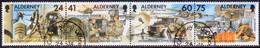 ALDERNEY 1996 SG A85-A88 Compl.set In A Horiz.strip Of Four Used 30th Signal Regiment - Alderney