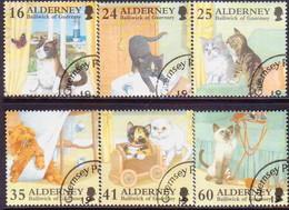 ALDERNEY 1996 SG A89-A95 Compl.set+m/s Used Cats - Alderney
