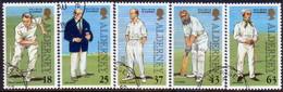 ALDERNEY 1997 SG A96-A101 Compl.set+m/s Used Cricket On Alderney - Alderney