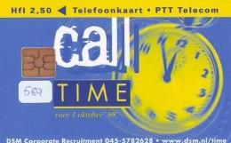 NEDERLAND CHIP TELEFOONKAART CRD 589 * CALL TIME * Telecarte A PUCE PAYS-BAS ONGEBRUIKT MINT - Privé