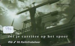 NEDERLAND CHIP TELEFOONKAART CRD 592 * NS Railinfrabeheer * Telecarte A PUCE PAYS-BAS ONGEBRUIKT MINT - Nederland
