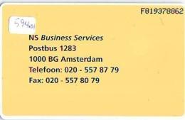 NEDERLAND CHIP TELEFOONKAART CRD 594.01 * NEDERLANDSE SPOORWEGEN  * Telecarte A PUCE PAYS-BAS ONGEBRUIKT MINT - Privé