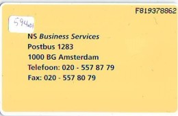 NEDERLAND CHIP TELEFOONKAART CRD 594.01 * NEDERLANDSE SPOORWEGEN  * Telecarte A PUCE PAYS-BAS ONGEBRUIKT MINT - Nederland