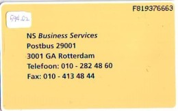 NEDERLAND CHIP TELEFOONKAART CRD 594.02 * NEDERLANDSE SPOORWEGEN  * Telecarte A PUCE PAYS-BAS ONGEBRUIKT MINT - Privé