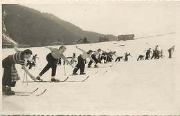 Themes Div -ref X792- Carte Photo -chatel - Haute Savoie - Ski - Skieurs -skieuses /- 13cms X 8,5cms - - Châtel