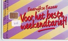 NEDERLAND CHIP TELEFOONKAART CRD 600 * BEVERWIJKSE BAZAAR  * Telecarte A PUCE PAYS-BAS ONGEBRUIKT MINT - Nederland