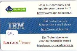 NEDERLAND CHIP TELEFOONKAART CRD 603 * IBM  * Telecarte A PUCE PAYS-BAS ONGEBRUIKT MINT - Nederland
