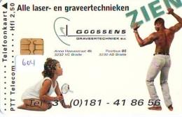 NEDERLAND CHIP TELEFOONKAART CRD 604 * GOOSSENS * Telecarte A PUCE PAYS-BAS ONGEBRUIKT MINT - Nederland