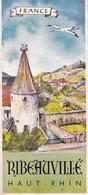 Rare Dépliant Touristique Ribeauvillé Alsace  Années 50 - Dépliants Touristiques