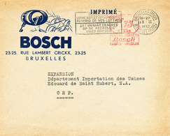 237/27 - LAMPES - PHARES Pour Voitures BOSCH S/ Lettre Illustrée + Affranchissement Mécanique Privé De Bosch - BXL 1952 - Timbres
