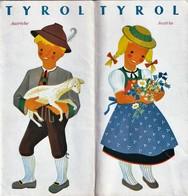 Rare Dépliant Touristique Tyrol Autriche   Années 50 - Tourism Brochures