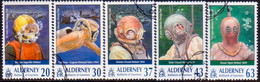 ALDERNEY 1998 SG A110-A115 Compl.set+m/s Used Alderney Diving Club - Alderney