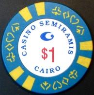 $1 Casino Chip. Casino Semiramis, Cairo, Egypt. M66. - Casino