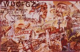 QSL Card Amateur Radio CB USA Lincoln Nebraska American Indian Cowboy 1980 - Radio Amateur