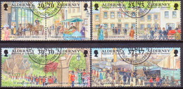 ALDERNEY 1998 SG A116-A123 Compl.set In Four Horiz.pairs Used Garrison Island (2nd Series) - Alderney