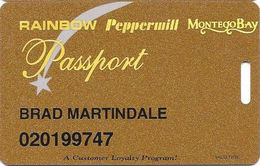 Wendover Resorts - Rainbow, Peppermill & Montego Bay Casinos - Slot Card - Separate Phone#s - Casino Cards