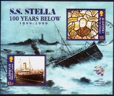 ALDERNEY 1999 SG MSA124 M/s Used Wreck Of Stella - Alderney