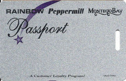 Wendover Resorts - Rainbow, Peppermill & Montego Bay Casinos - BLANK Slot Card - Separate Phone#s - Casino Cards