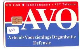 NEDERLAND CHIP TELEFOONKAART CRD 609 * AVO * Telecarte A PUCE PAYS-BAS ONGEBRUIKT MINT - Nederland