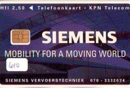 NEDERLAND CHIP TELEFOONKAART CRD 610 * SIEMENS * Telecarte A PUCE PAYS-BAS ONGEBRUIKT MINT - Nederland