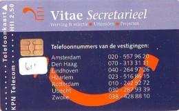 NEDERLAND CHIP TELEFOONKAART CRD 611 * VITAE SECRETARIEEL * Telecarte A PUCE PAYS-BAS ONGEBRUIKT MINT - Nederland