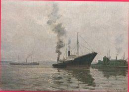Circassians Through Fog Steamer Motor Ship 1958 - Piroscafi