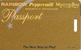 Wendover Resorts - Rainbow, Peppermill & Montego Bay Casinos - Slot Card 1-800-537-0207 Phone# 1 Web Adr - Casino Cards