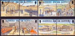 ALDERNEY 1999 SG A132-A139 Compl.set Used Garrison Island (3rd Series) - Alderney