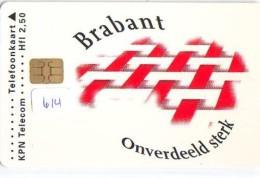 NEDERLAND CHIP TELEFOONKAART CRD 614 * BRABANT * Telecarte A PUCE PAYS-BAS ONGEBRUIKT MINT - Nederland