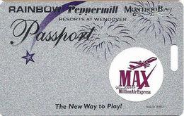 Wendover Resorts - Rainbow, Peppermill & Montego Bay Casinos - Slot Card 1-217-0049 Phone# - Casino Cards