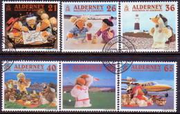 """ALDERNEY 2000 SG A146-A151 Compl.set Used """"A Wombling Holiday"""" - Alderney"""