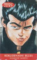 Télécarte Japon / 110-011 - MANGA - ** WEEKLY JUMP ** - ROKUDENASHI RACAILLE BLUES - ANIME Japan Phonecard - 10492 - Comics
