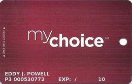 Pinnacle Entertainment Casinos USA - My Choice Slot Card - Copyright 2010 - 4 Logos On Reverse - Casino Cards