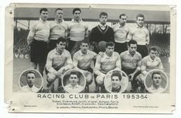 CPSM Carte Photo - Football RACING CLUB DE PARIS 1953 - 1954 - VOIR SCAN POUR ETAT - Calcio