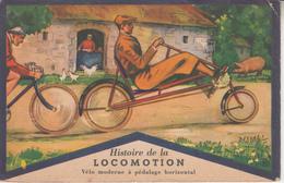 Histoire De La Locomotion - Vélo Moderne à Pédalage Horizontal - Publicité Produits Lion Noir  PRIX FIXE - Cartes Postales