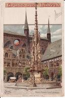 278521Gruss Aus Lübeck, Der Markt Zu Lübeck (poststempel 1902) Links Oben Falten Und Rischen, Siehe Rückseite. - Luebeck