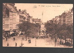 Liège - Le Perron - Place Du Marché - 1928 - Animée - Luik