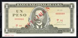 CUBA  1970   1 PESO.JOSÉ MARTÍ.  NUEVO.PICK Nº CS8 SPECIMEN  .B1215 - Cuba